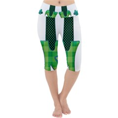 Saint Patrick S Day March Lightweight Velour Cropped Yoga Leggings by Mariart