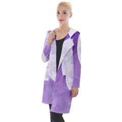 Purple Sky Star Moon Clouds Hooded Pocket Cardigan by Mariart