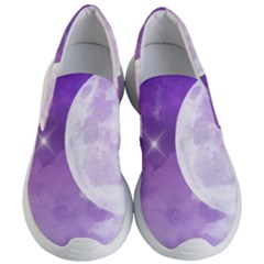 Purple Sky Star Moon Clouds Women s Lightweight Slip Ons