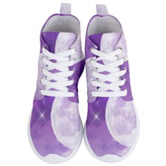 Purple Sky Star Moon Clouds Women s Lightweight High Top Sneakers by Mariart