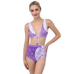 Purple Sky Star Moon Clouds Tied Up Two Piece Swimsuit by Mariart