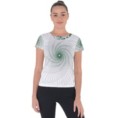 Spirograph Pattern Short Sleeve Sports Top  by Mariart