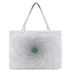Spirograph Pattern Zipper Medium Tote Bag by Mariart