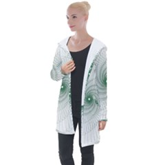 Spirograph Pattern Longline Hooded Cardigan by Mariart