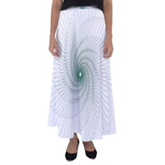 Spirograph Pattern Flared Maxi Skirt by Mariart