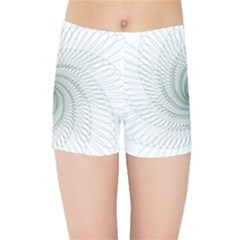 Spirograph Pattern Kids  Sports Shorts by Mariart