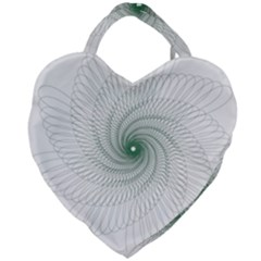 Spirograph Pattern Giant Heart Shaped Tote by Mariart