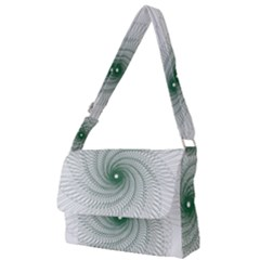 Spirograph Pattern Full Print Messenger Bag