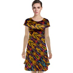 Background Abstract Texture Rainbow Cap Sleeve Nightdress by AnjaniArt
