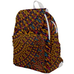 Background Abstract Texture Rainbow Top Flap Backpack