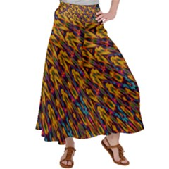Background Abstract Texture Rainbow Satin Palazzo Pants by AnjaniArt