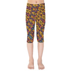 Background Abstract Texture Rainbow Kids  Capri Leggings  by AnjaniArt