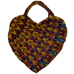 Background Abstract Texture Rainbow Giant Heart Shaped Tote by AnjaniArt