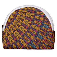 Background Abstract Texture Rainbow Horseshoe Style Canvas Pouch by AnjaniArt