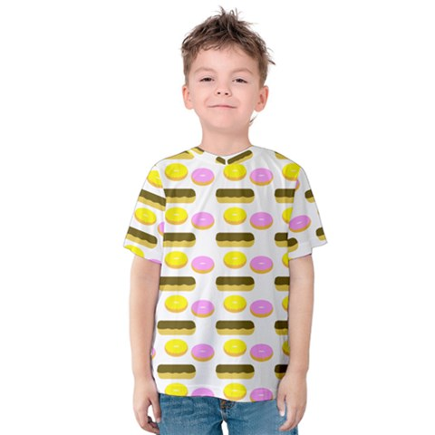 Donuts Fry Cake Kids  Cotton Tee by AnjaniArt