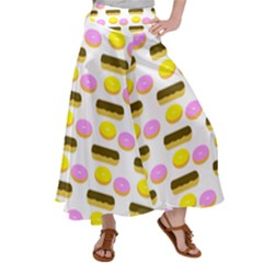 Donuts Fry Cake Satin Palazzo Pants by AnjaniArt