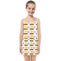 Donuts Fry Cake Kids  Summer Sun Dress by AnjaniArt