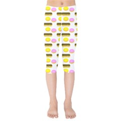 Donuts Fry Cake Kids  Capri Leggings  by AnjaniArt