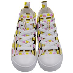 Donuts Fry Cake Kids  Mid Top Canvas Sneakers