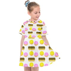 Donuts Fry Cake Kids  Sailor Dress by AnjaniArt