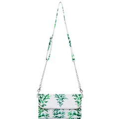 Christmas Pine Trees Snow Xmas Mini Crossbody Handbag by AnjaniArt
