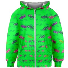 Fish Aquarium Underwater World Kids  Zipper Hoodie Without Drawstring by AnjaniArt