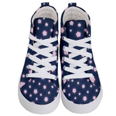 Flowers Background Wallpaper Kids  Hi Top Skate Sneakers