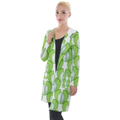 Herb Ongoing Pattern Plant Nature Hooded Pocket Cardigan