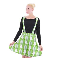 Herb Ongoing Pattern Plant Nature Suspender Skater Skirt