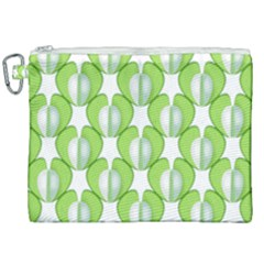 Herb Ongoing Pattern Plant Nature Canvas Cosmetic Bag (xxl) by AnjaniArt