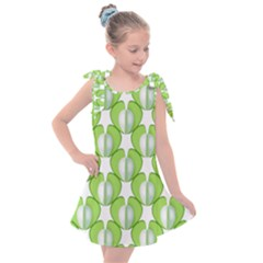 Herb Ongoing Pattern Plant Nature Kids  Tie Up Tunic Dress by AnjaniArt