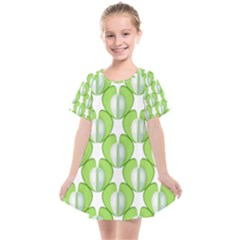 Herb Ongoing Pattern Plant Nature Kids  Smock Dress