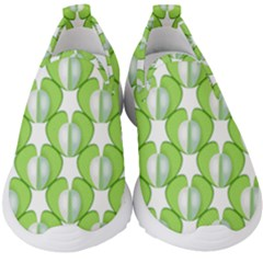 Herb Ongoing Pattern Plant Nature Kids  Slip On Sneakers by AnjaniArt