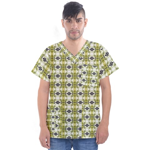 Daring 015ix Men s V-neck Scrub Top by mrozara