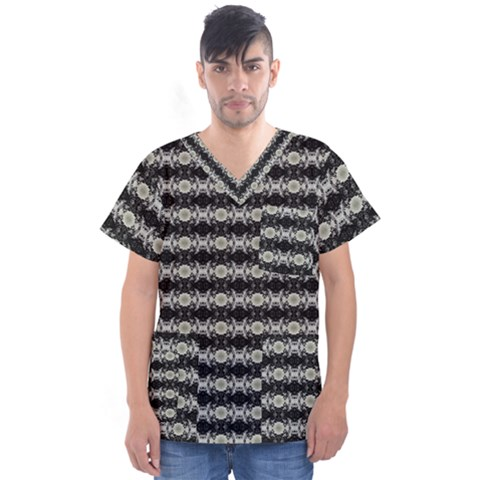 Daring Ix Men s V-neck Scrub Top by mrozara