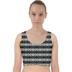 Daring Ix Velvet Racer Back Crop Top