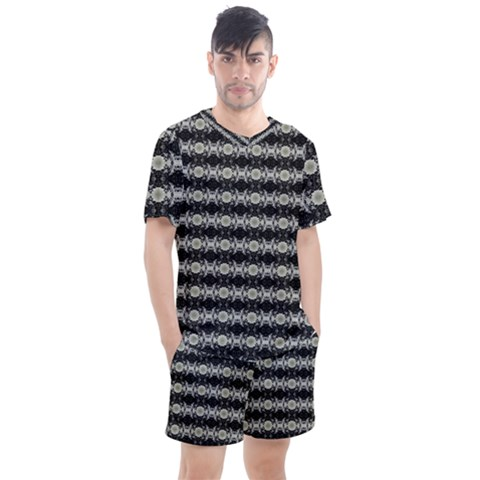Daring Ix Men s Mesh Tee And Shorts Set by mrozara