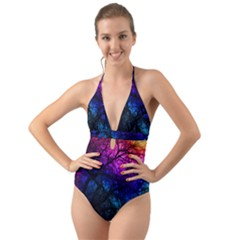 Fall Feels Halter Cut-out One Piece Swimsuit