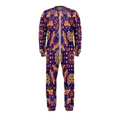 Kaleidoscope Background Design Onepiece Jumpsuit (kids) by AnjaniArt