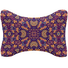 Kaleidoscope Background Design Seat Head Rest Cushion by AnjaniArt