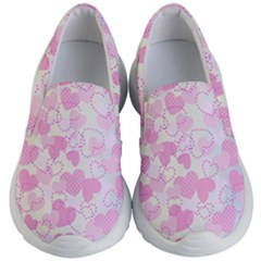 Valentine Background Hearts Bokeh Kids  Lightweight Slip Ons by AnjaniArt