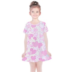 Valentine Background Hearts Bokeh Kids  Simple Cotton Dress