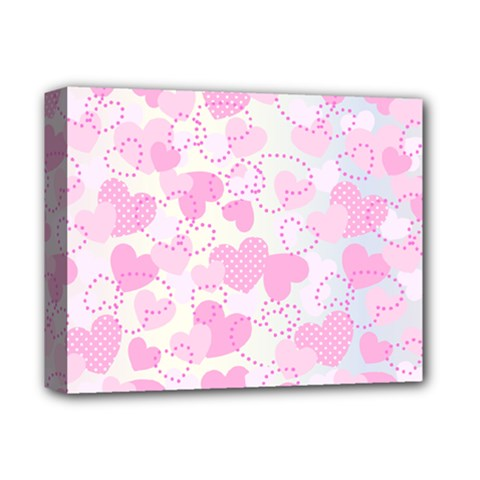 Valentine Background Hearts Bokeh Deluxe Canvas 14  X 11  (stretched)