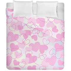 Valentine Background Hearts Bokeh Duvet Cover Double Side (california King Size)