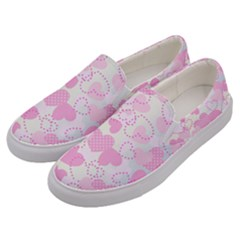 Valentine Background Hearts Bokeh Men s Canvas Slip Ons by AnjaniArt