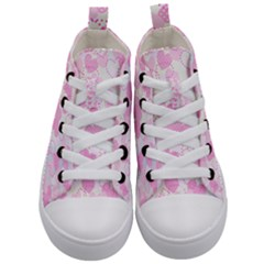Valentine Background Hearts Bokeh Kids  Mid Top Canvas Sneakers