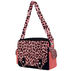 Coral Leopard Print  Buckle Multifunction Bag by TopitOff