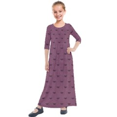 Plum Bow Design Kids  Quarter Sleeve Maxi Dress by WensdaiAddamns
