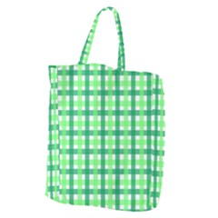 Sweet Pea Green Gingham Giant Grocery Tote by WensdaiAmbrose