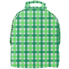 Sweet Pea Green Gingham Mini Full Print Backpack by WensdaiAmbrose